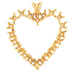 A picture of product H731: Multi Stone Heart Pendant